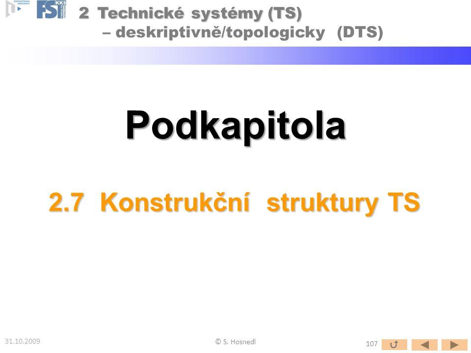 2.7 Konstrukční struktury TS