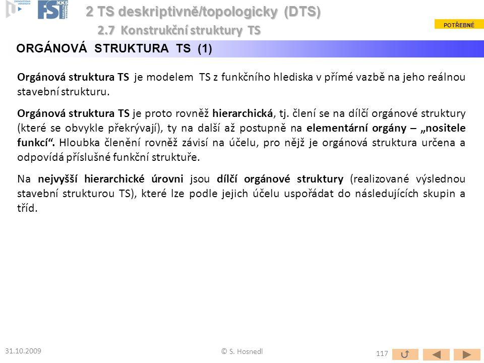 2 TS deskriptivně/topologicky (DTS) 2.7 Konstrukční struktury TS