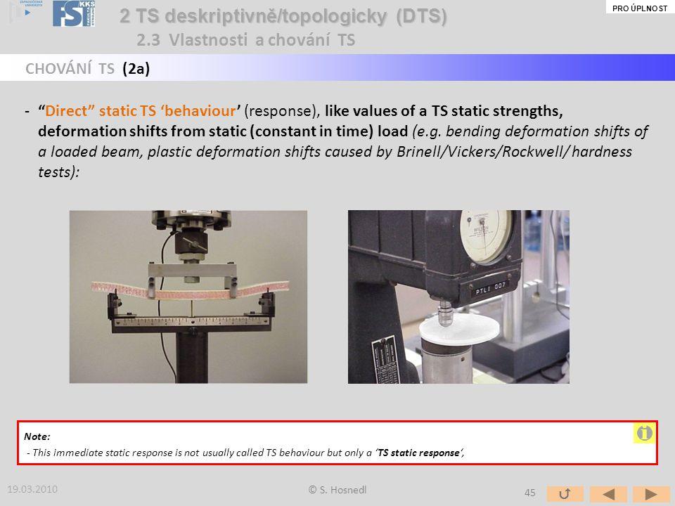 i 2 TS deskriptivně/topologicky (DTS) 2.3 Vlastnosti a chování TS