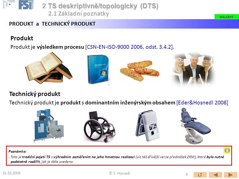 i 2 TS deskriptivně/topologicky (DTS) 2.1 Základní poznatky Produkt