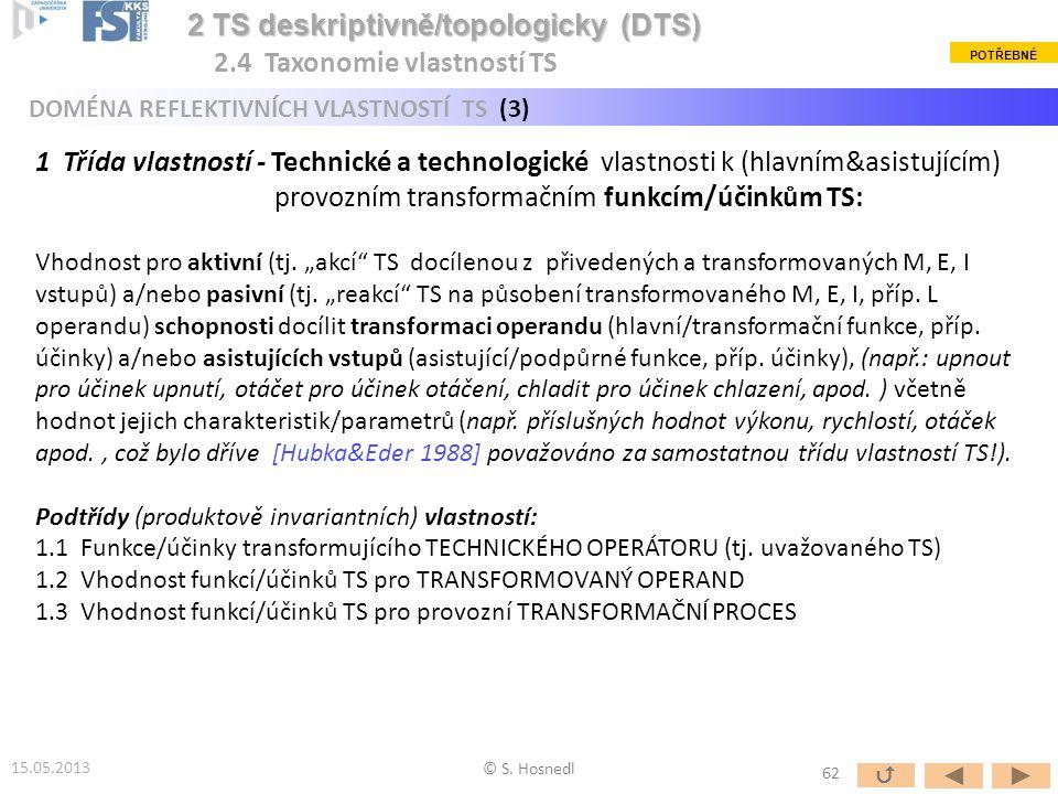 2 TS deskriptivně/topologicky (DTS) 2.4 Taxonomie vlastností TS