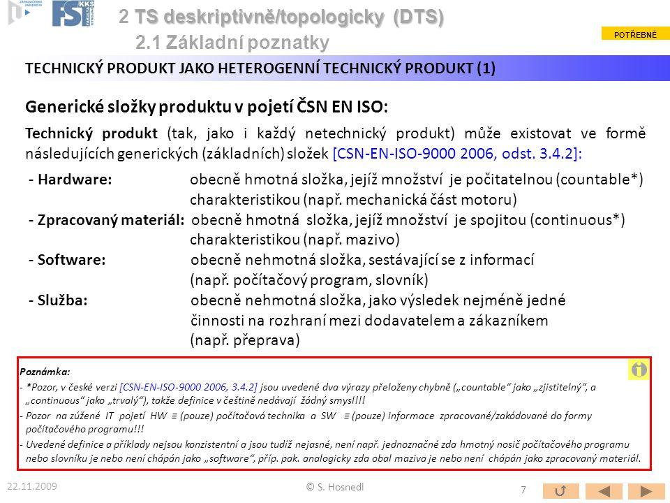 i 2 TS deskriptivně/topologicky (DTS) 2.1 Základní poznatky