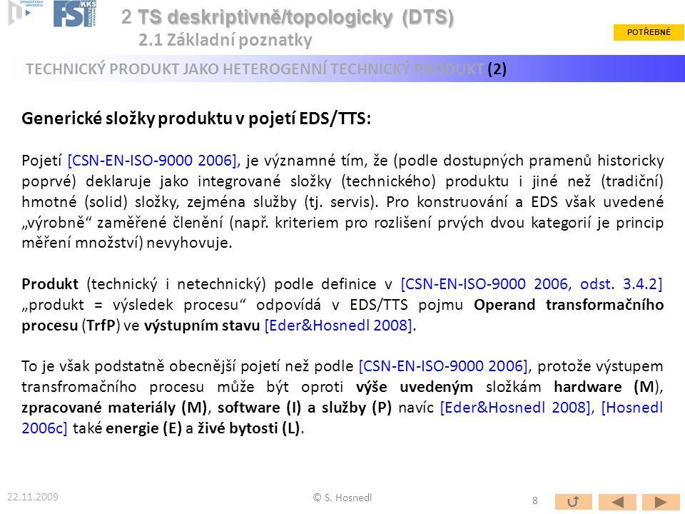 2 TS deskriptivně/topologicky (DTS) 2.1 Základní poznatky