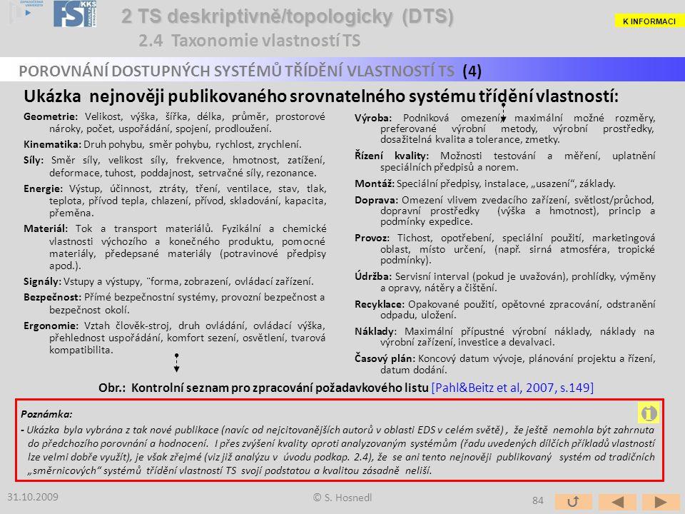 i 2 TS deskriptivně/topologicky (DTS) 2.4 Taxonomie vlastností TS