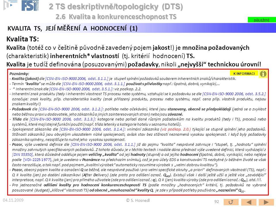 2 TS deskriptivně/topologicky (DTS)