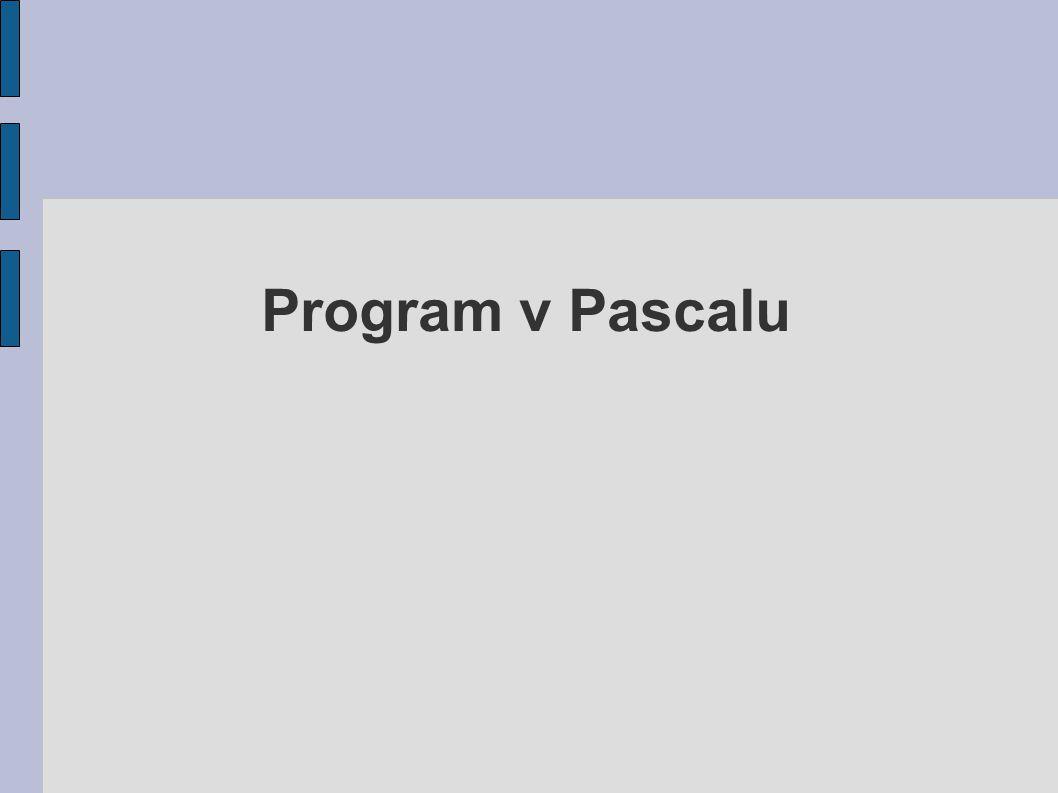 Program v Pascalu