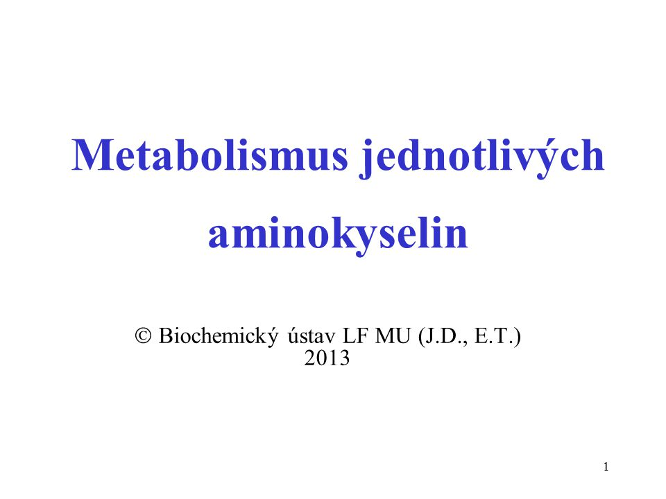 Metabolismus jednotlivých aminokyselin