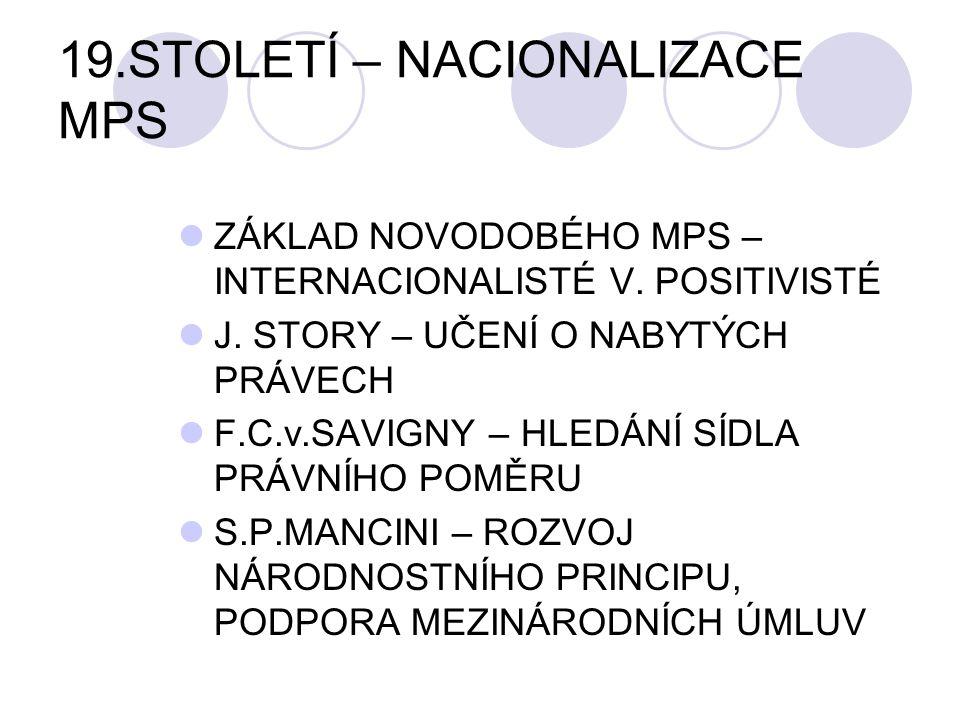 19.STOLETÍ – NACIONALIZACE MPS