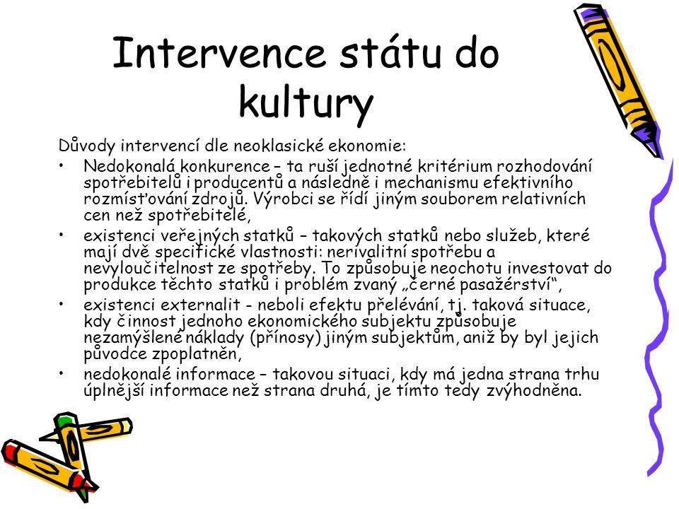 Intervence státu do kultury