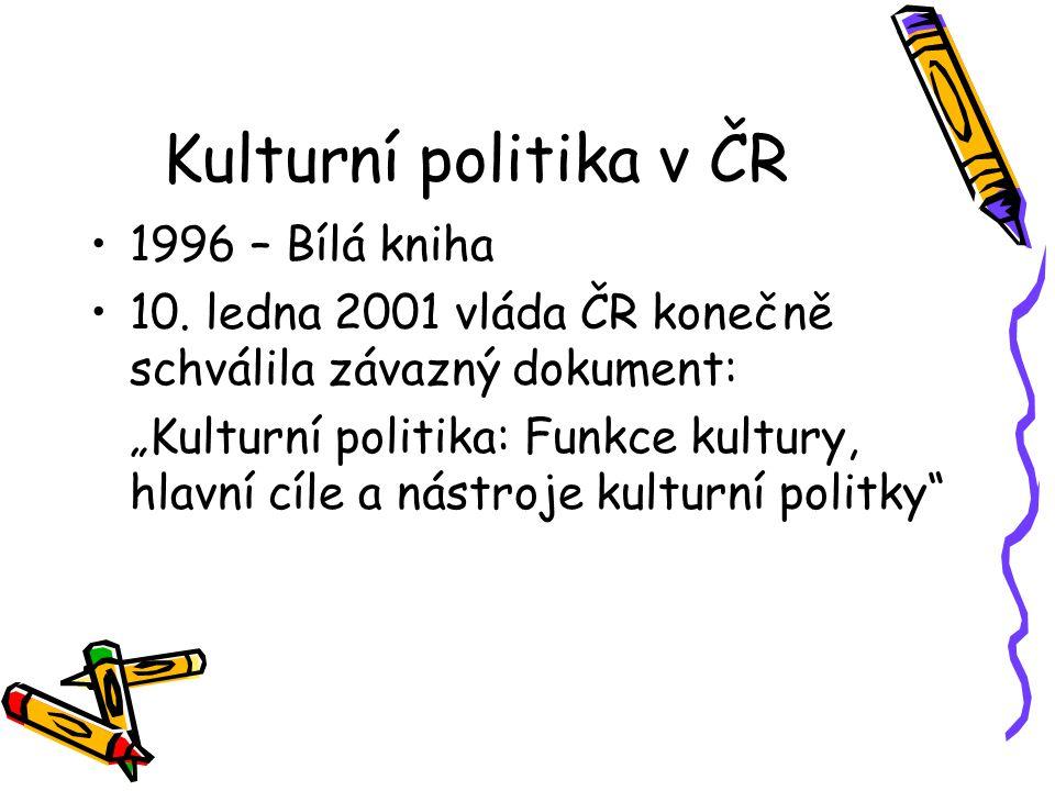 Kulturní politika v ČR 1996 – Bílá kniha