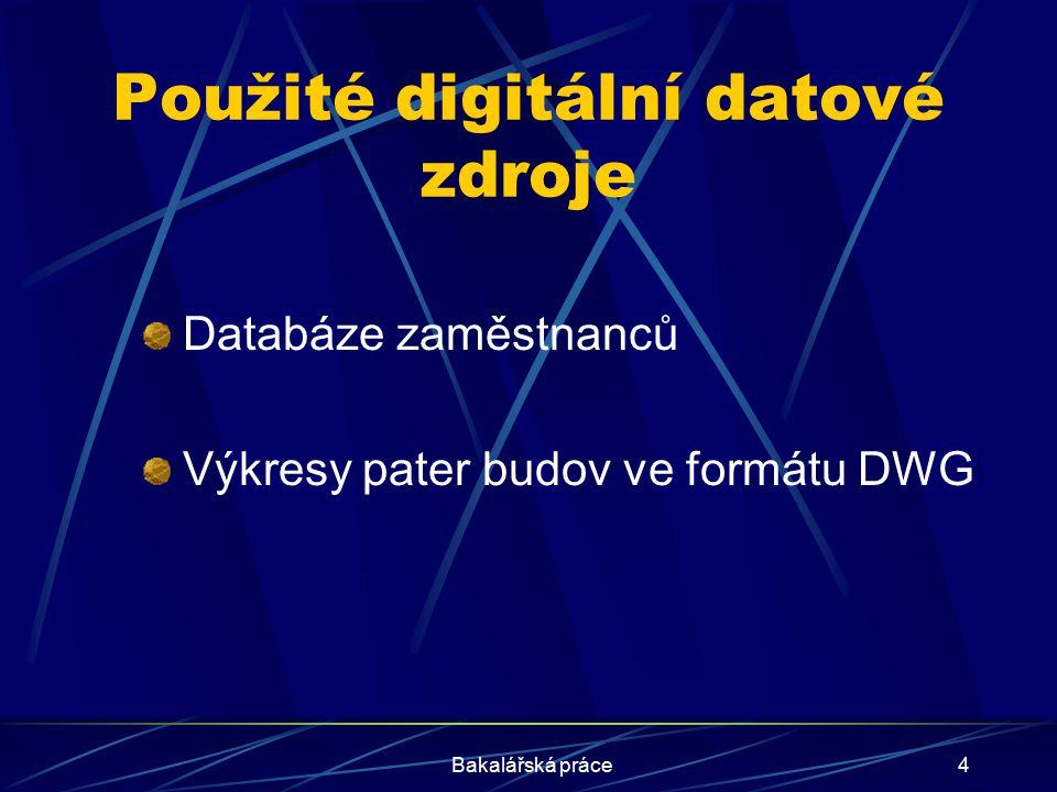 Použité digitální datové zdroje