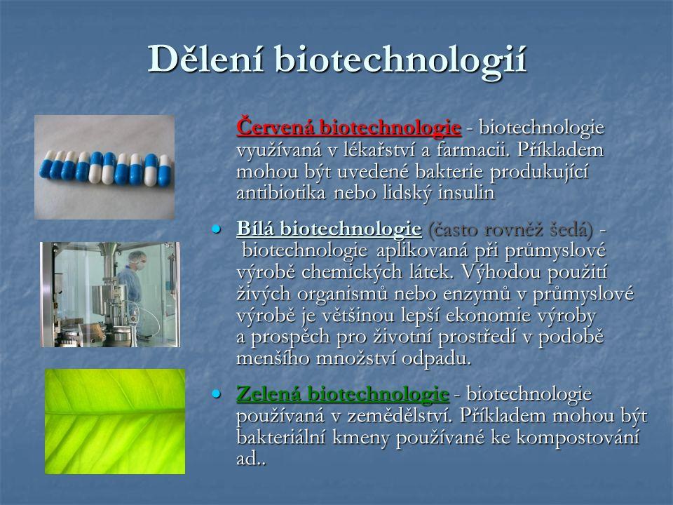 Dělení biotechnologií