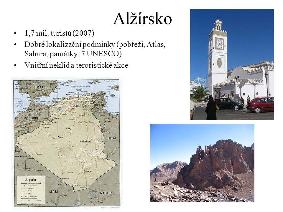 Alžírsko 1,7 mil. turistů (2007)