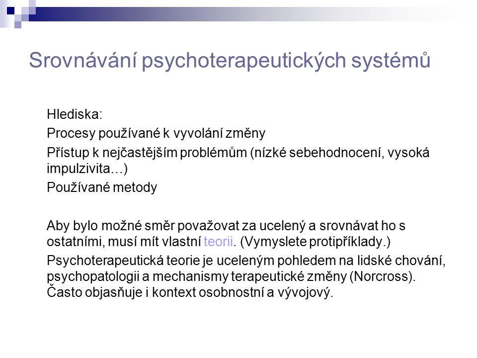 Srovnávání psychoterapeutických systémů