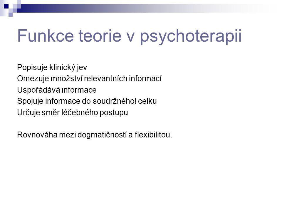 Funkce teorie v psychoterapii