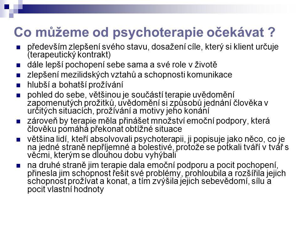 Co můžeme od psychoterapie očekávat