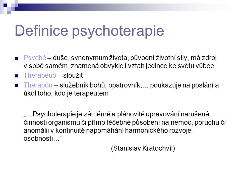 Definice psychoterapie
