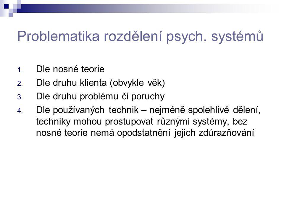 Problematika rozdělení psych. systémů