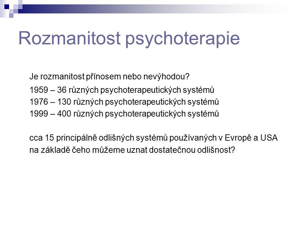 Rozmanitost psychoterapie