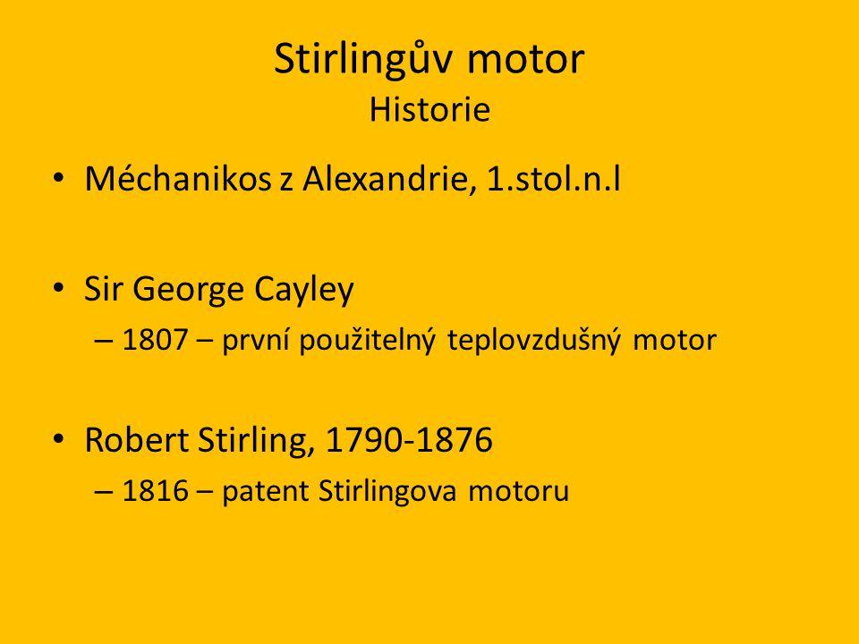 Stirlingův motor Historie