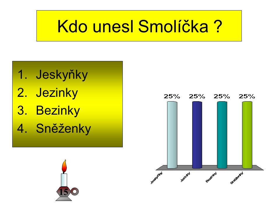 Kdo unesl Smolíčka Jeskyňky Jezinky Bezinky Sněženky 15