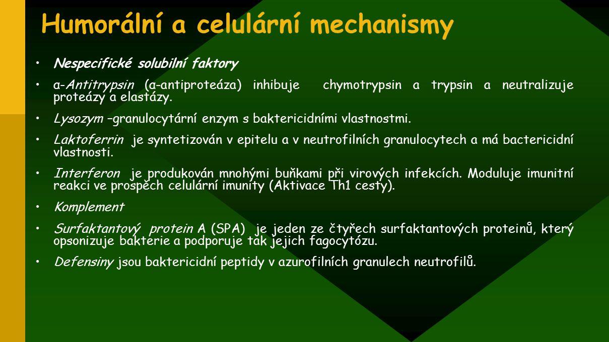 Humorální a celulární mechanismy