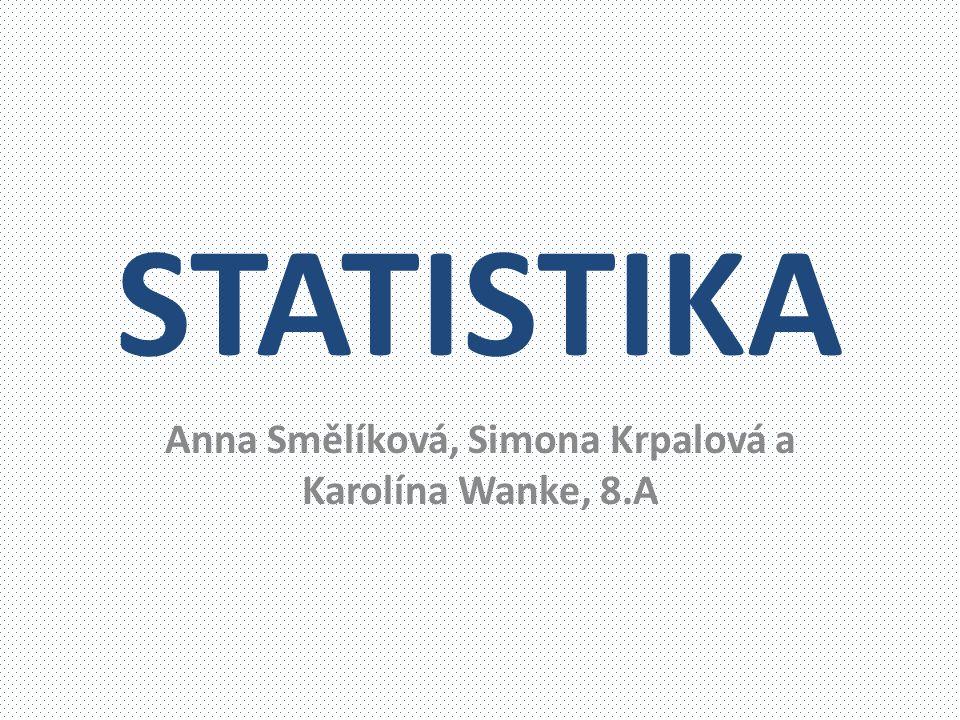 Anna Smělíková, Simona Krpalová a Karolína Wanke, 8.A