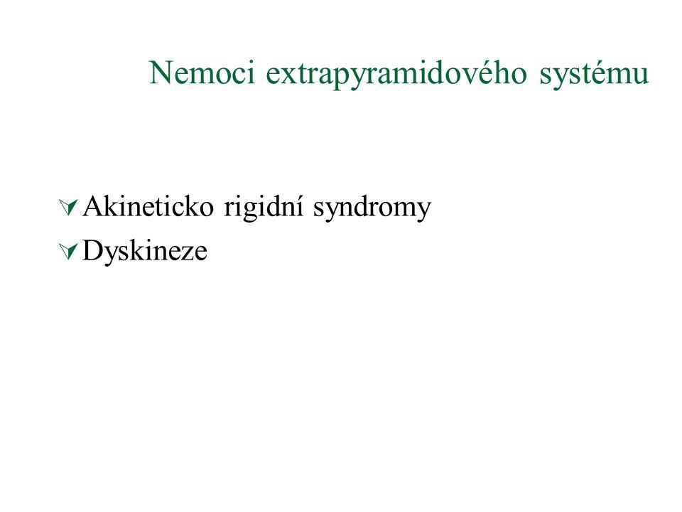 Nemoci extrapyramidového systému