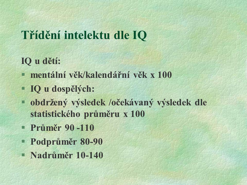 Třídění intelektu dle IQ