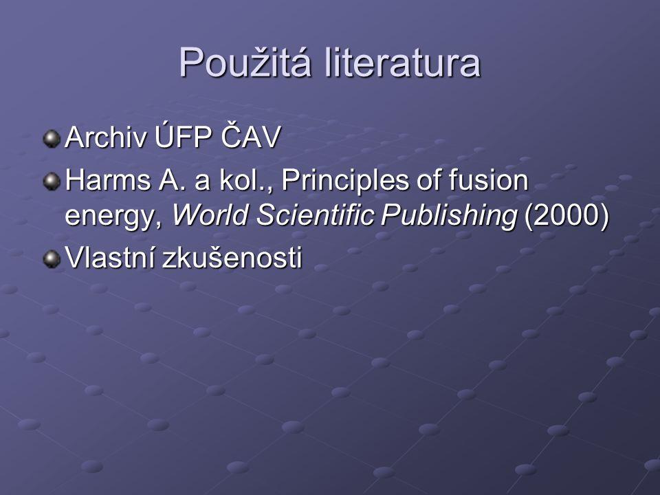 Použitá literatura Archiv ÚFP ČAV