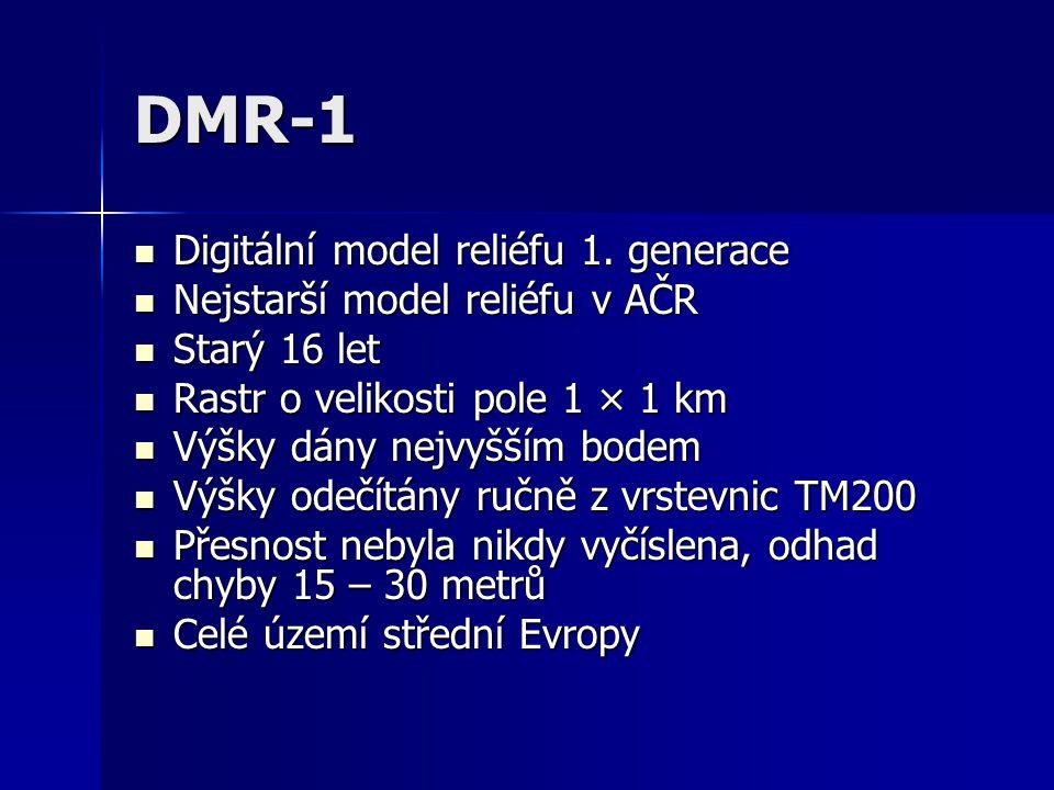 DMR-1 Digitální model reliéfu 1. generace