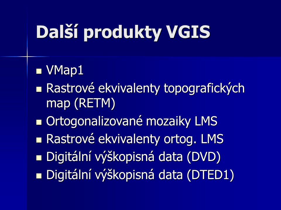Další produkty VGIS VMap1