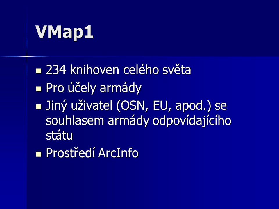 VMap1 234 knihoven celého světa Pro účely armády
