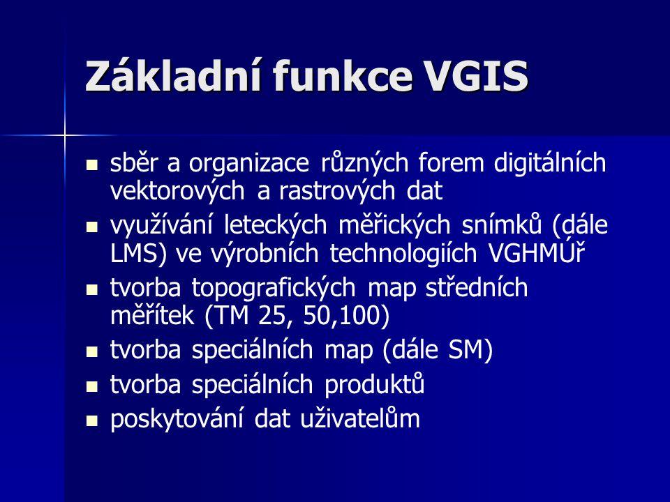 Základní funkce VGIS sběr a organizace různých forem digitálních vektorových a rastrových dat.