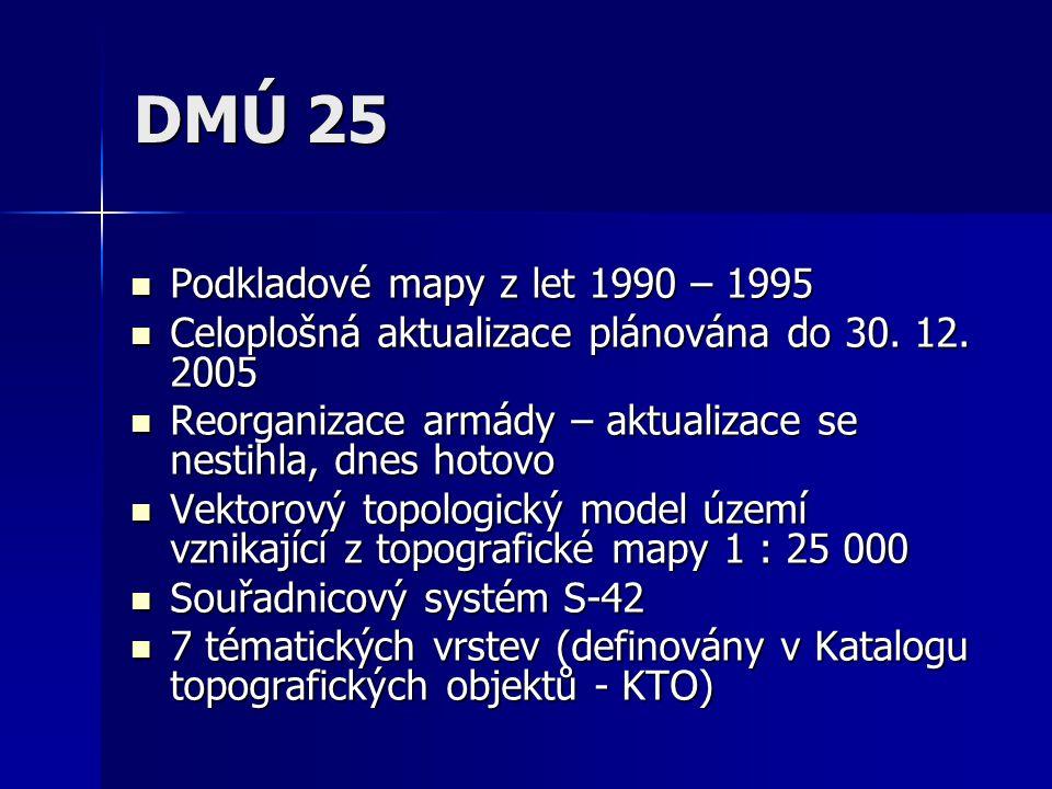 DMÚ 25 Podkladové mapy z let 1990 – 1995