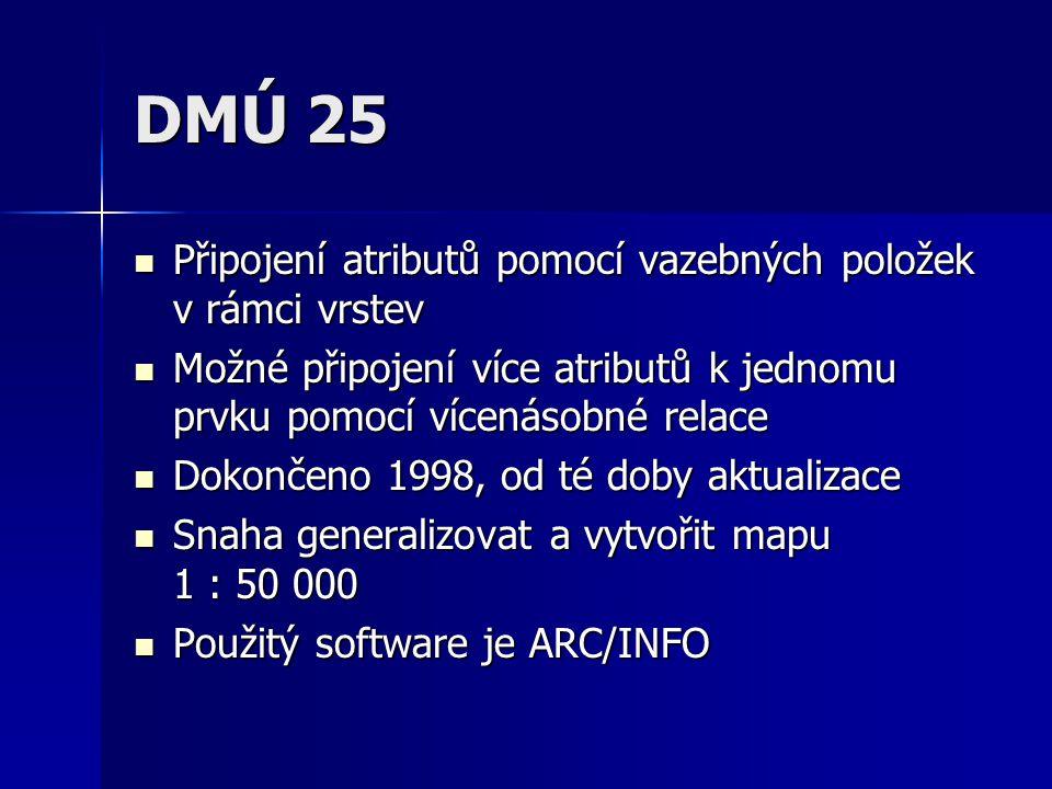 DMÚ 25 Připojení atributů pomocí vazebných položek v rámci vrstev