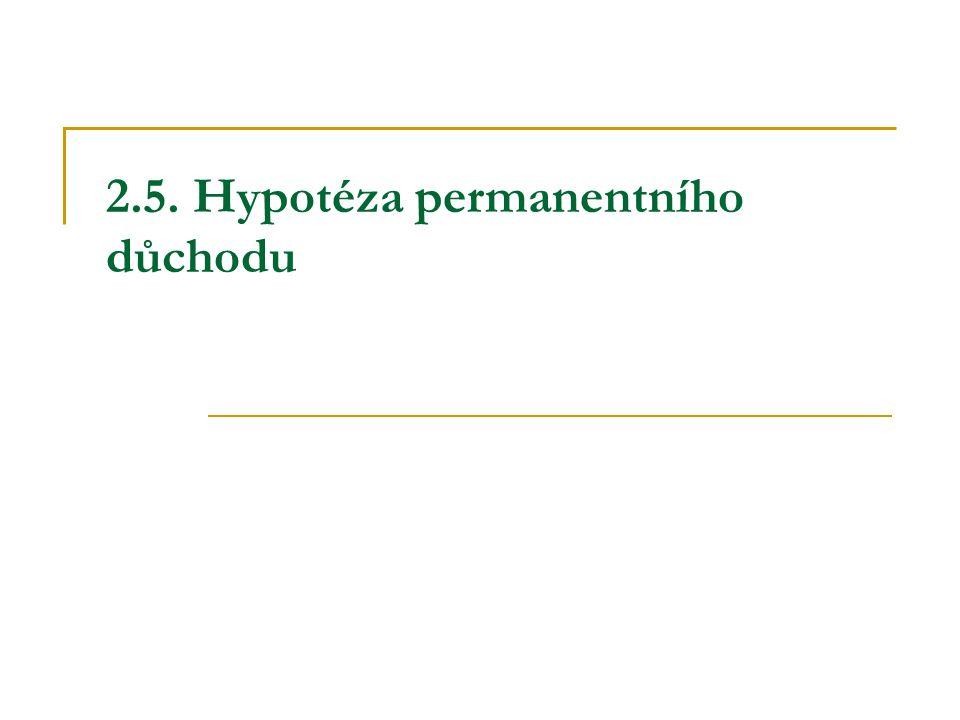 2.5. Hypotéza permanentního důchodu