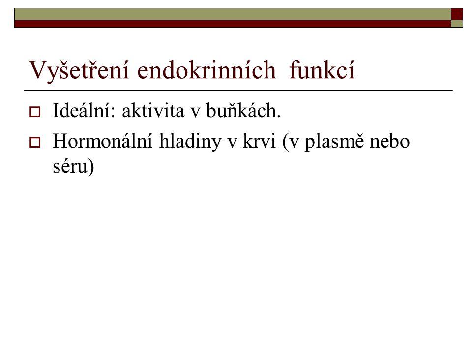 Vyšetření endokrinních funkcí