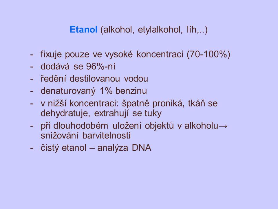 Etanol (alkohol, etylalkohol, líh,..)