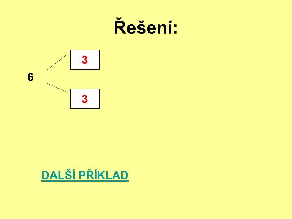 Řešení: 3 6 DALŠÍ PŘÍKLAD 3