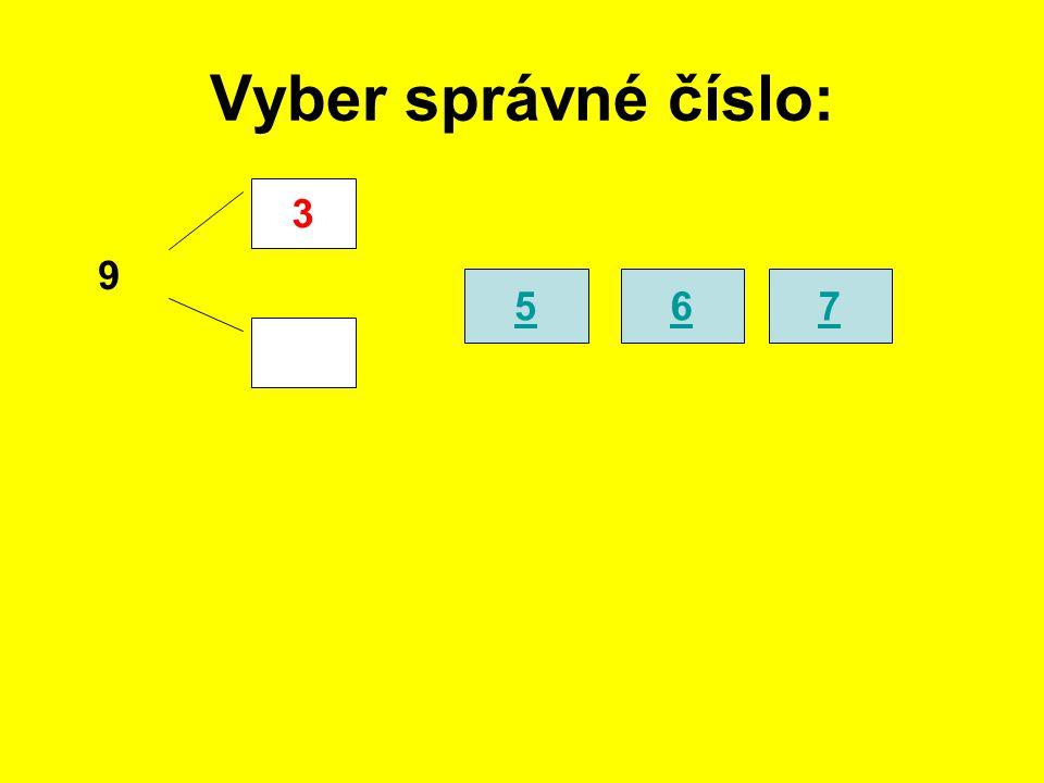 Vyber správné číslo: 3 9 5 6 7