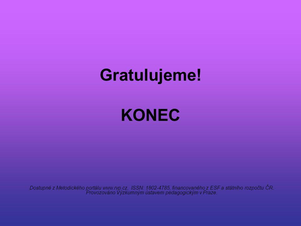 Gratulujeme! KONEC