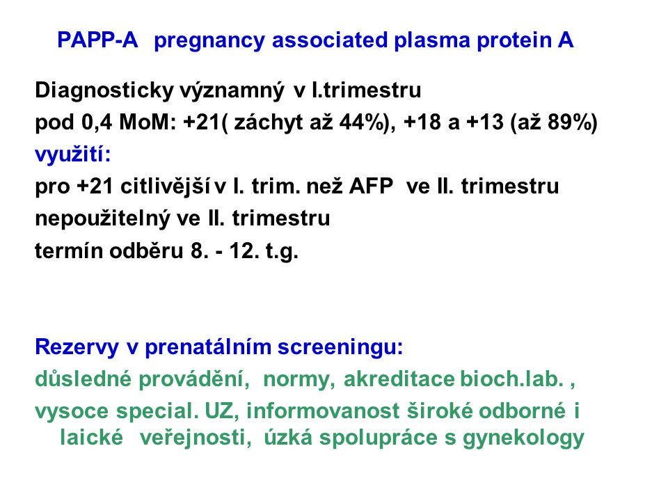PAPP-A pregnancy associated plasma protein A
