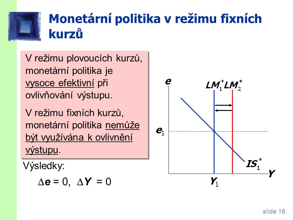 Obchodní politika v režimu fixních kurzů