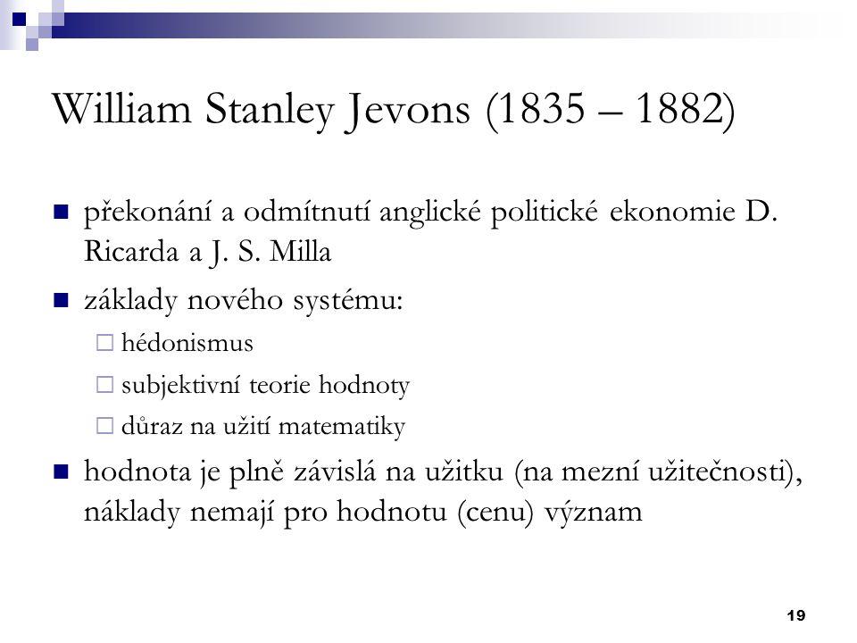 William Stanley Jevons (1835 – 1882)