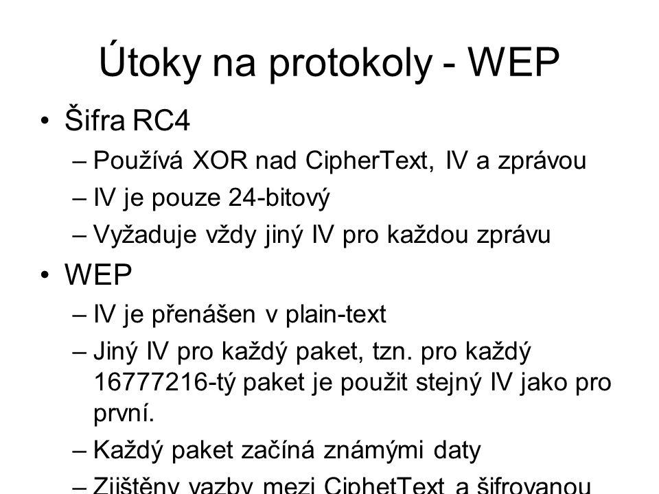 Útoky na protokoly - WEP