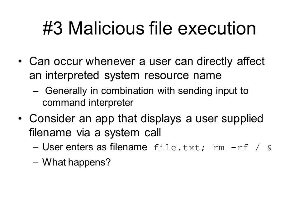 #3 Malicious file execution