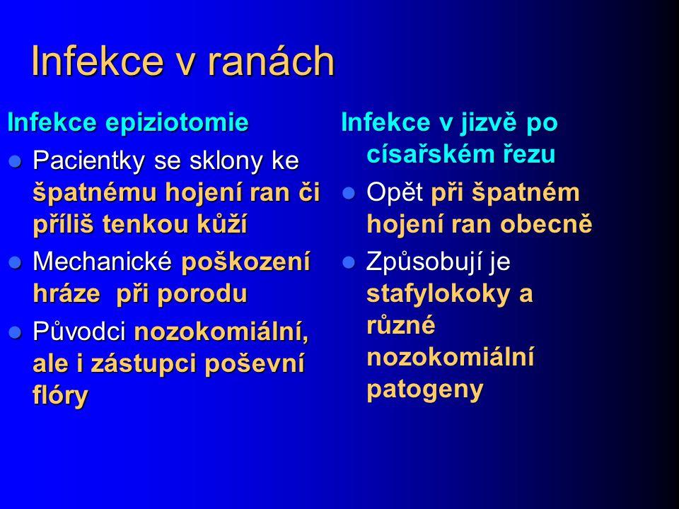 Infekce v ranách Infekce epiziotomie