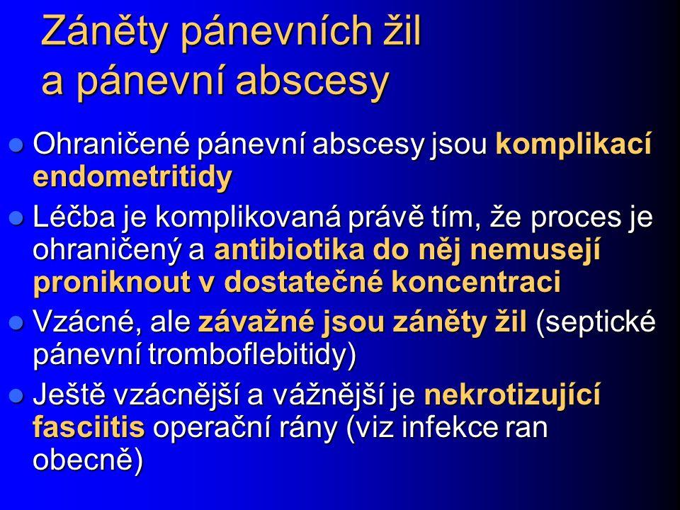 Záněty pánevních žil a pánevní abscesy