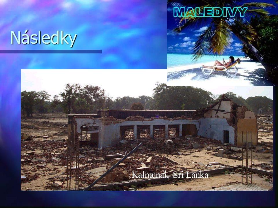 Následky Kalmunai, Sri Lanka